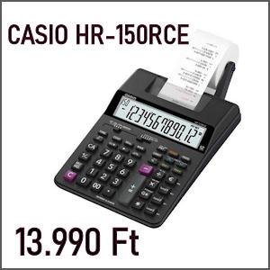 CASIO HR-150RCE KÉSZLETEN!