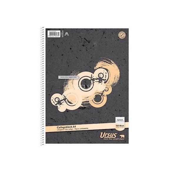 Spirálfüzet A/4 160lap kockás Kollegblock Ursus Basic