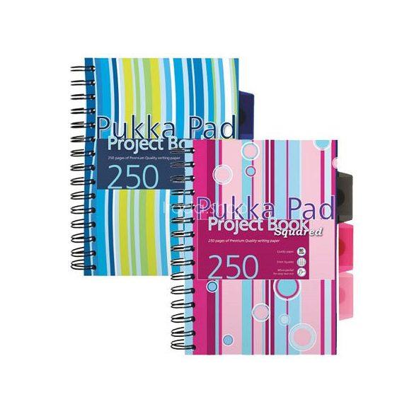 Spirálfüzet A/4 Project Book vonalas PROBA4 250 oldal 5 reg. színes PP. bor.