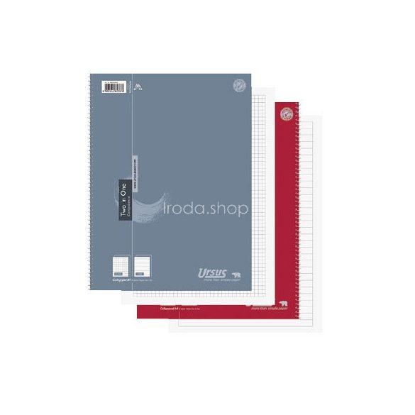 Spirálfüzet A/4 2x40lap kollegeblock Ursus Competence Two in One