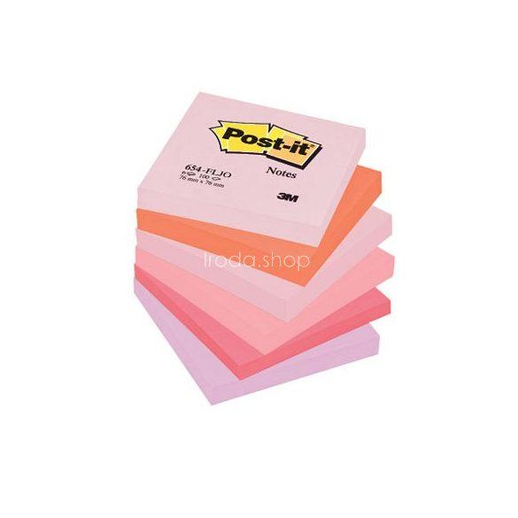 Post-it 654FLJO/654FL 76x76mm 100lap 6tömb p.pink 654RP