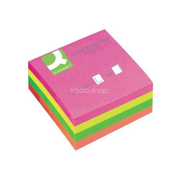 Öntap. jegyzettömb 76x76mm 320lap neon Q-Connect KF01348