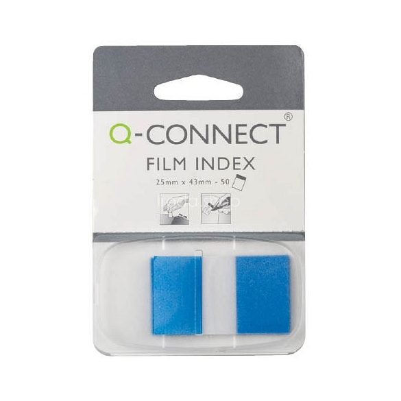 Öntap. oldaljelölő 25x43mm 50 címke Q-Connect kék
