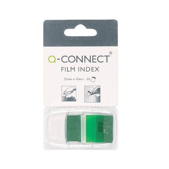 Öntap. oldaljelölő  25x43mm 50 címke Q-Connect zöld