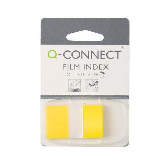 Öntap. oldaljelölő  25x43mm 50 címke Q-Connect citromsárga