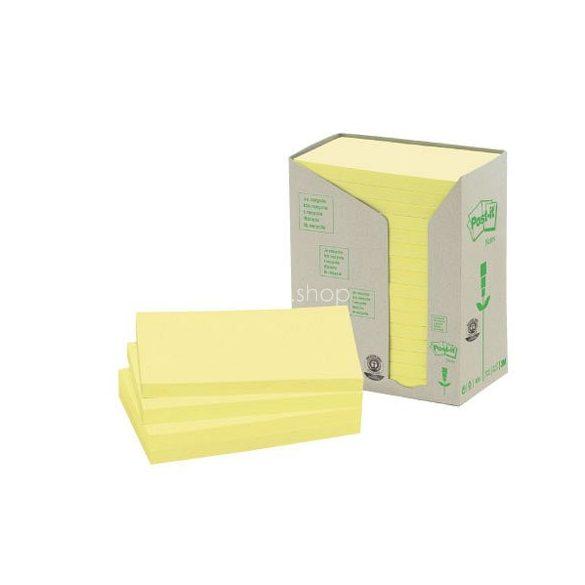 Post-it 655 1T 76x127mm 16x100lap/csm GreenLine sárga