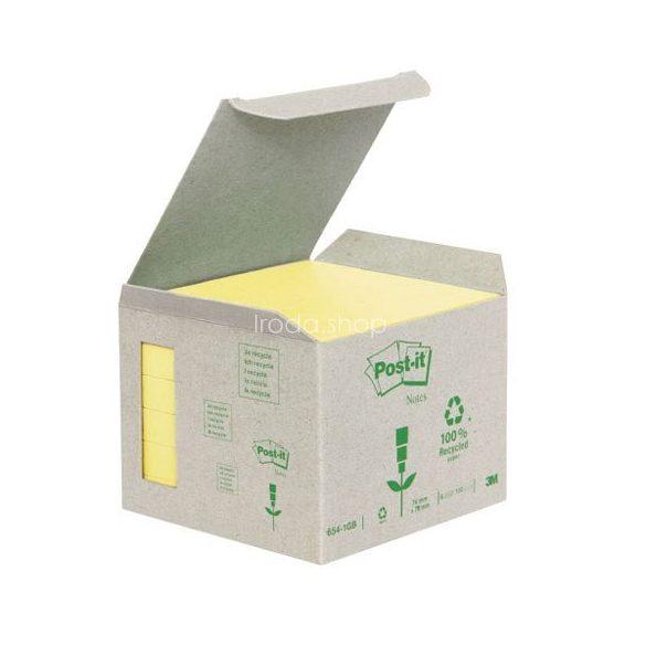 Post-it 654-1B 76x76mm 6x100lap/csm GreenLine sárga