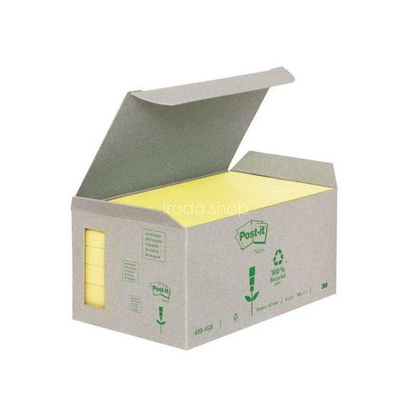 Post-it 655-1B 76x127mm 6x100lap/csm GreenLine sárga