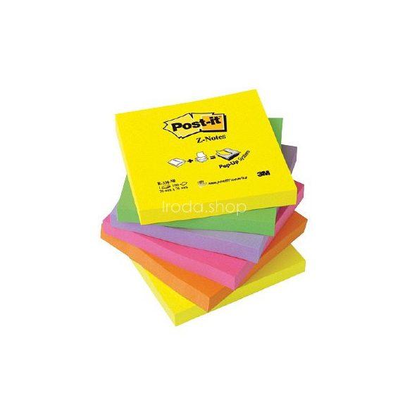 Post-it R-330-NR  Z-szivárványcsomag 76 × 76 mm, 100 lap, 6 tömb, neon színek