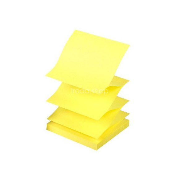 """Öntap.jegyzettömb 76x76mm """"Z"""" élénk sárga 100 lap Q-Connect KF16575"""