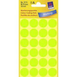Etikett címke jelölőpont 18mm Avery