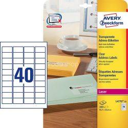 Etikett címke címzés L4770-25 45,7x25,4mm 25ív Avery QuickPeel