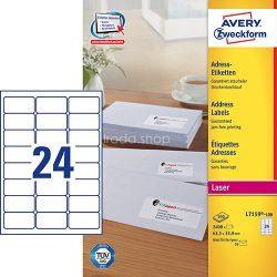 Etikett címke címzés L7159-100 C6 borítékra QuickPEEL  63,5x33,9mm Avery