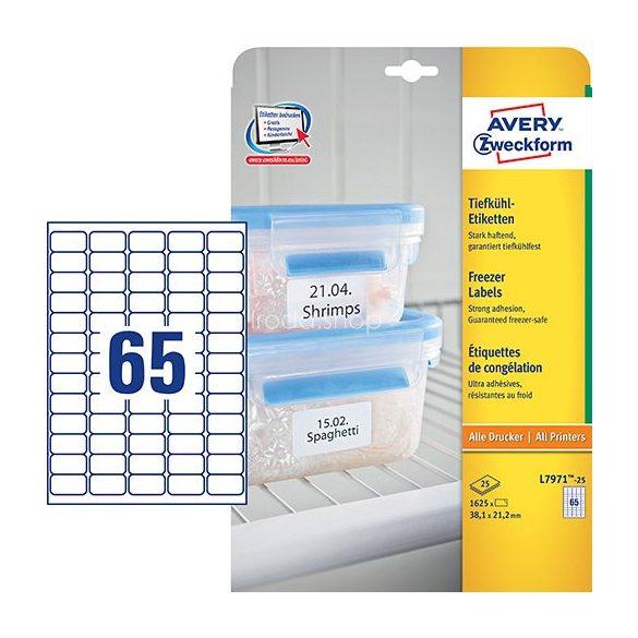 Etikett címke speciális L7971-25 fagyasztó címke 38,1 x 21,2 mm Avery