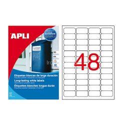 Etikett 45,7x21,2mm 4p. vízálló 960db/dob 20ív Apli