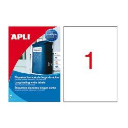 Etikett 210x297 mm 1p. vízálló 100db/csomag 100ív Apli