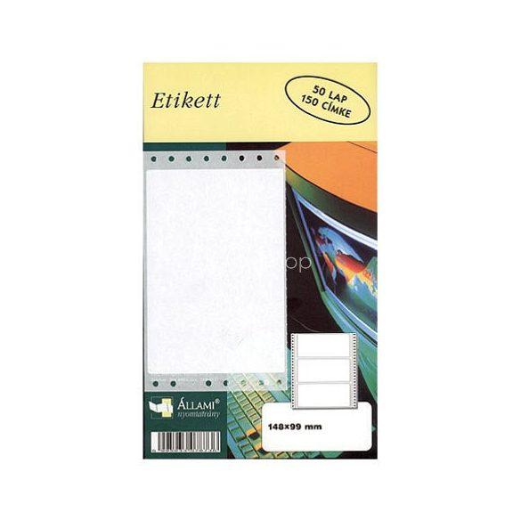 Etikett 107x36,1mm/1 8cimke/ív 500ív/doboz