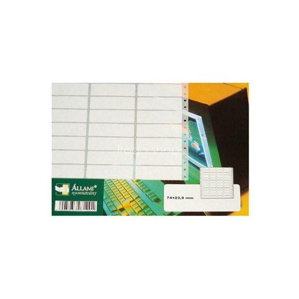 Etikett 148x99mm/1 3cimke/ív 500ív/doboz