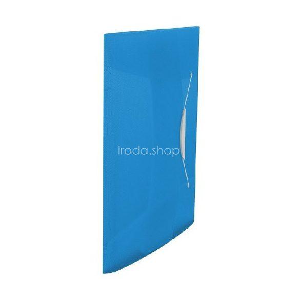 Iratgyűjtő gumis A/4 PP vegy. Intense/Vivida kék