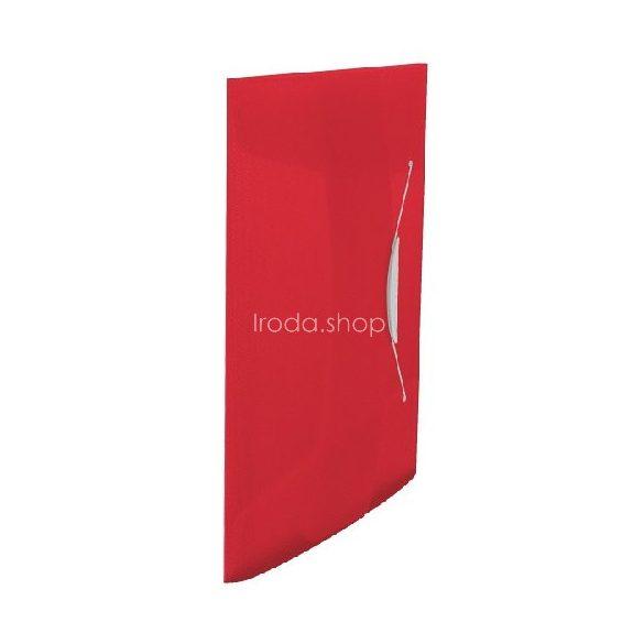 Iratgyűjtő gumis A/4 PP vegy. Intense/Vivida piros