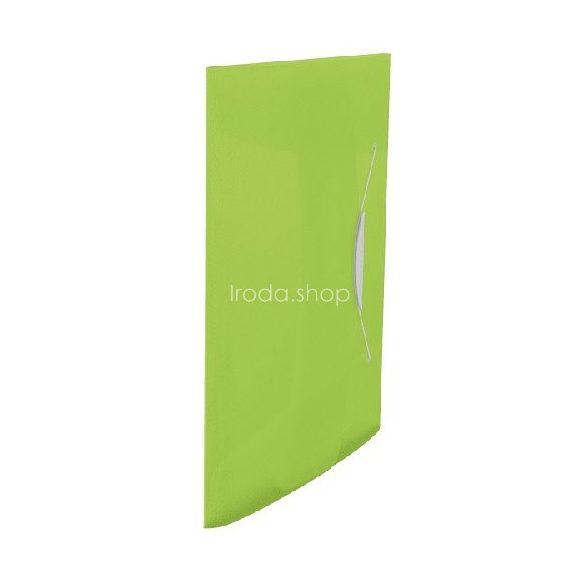 Iratgyűjtő gumis A/4 PP vegy. Intense/Vivida zöld
