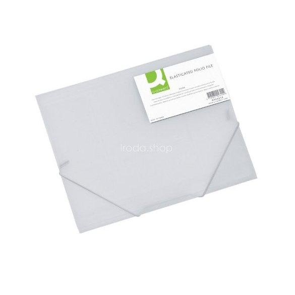 Iratgyűjtő gumis A/4 PP Q-Connect fehér