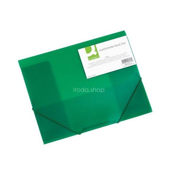 Iratgyűjtő gumis A/4 PP Q-Connect zöld