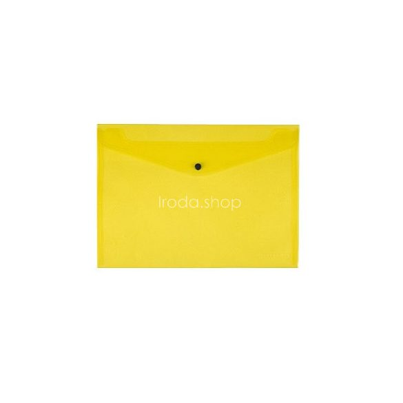 Iratgyűjtő tasak A/4 patentzáras Q-Connect 237x333mm sárga