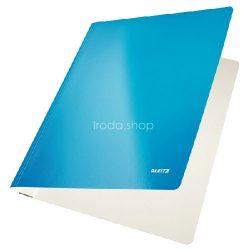 Gyorsfűző karton Leitz lakkfényű - kék