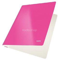 Gyorsfűző karton Leitz lakkfényű - rózsszín