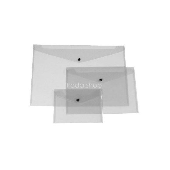 Iratgyűjtő tasak A/5 patentzáras fekvő Q-Connect 225x165mm átlátszó