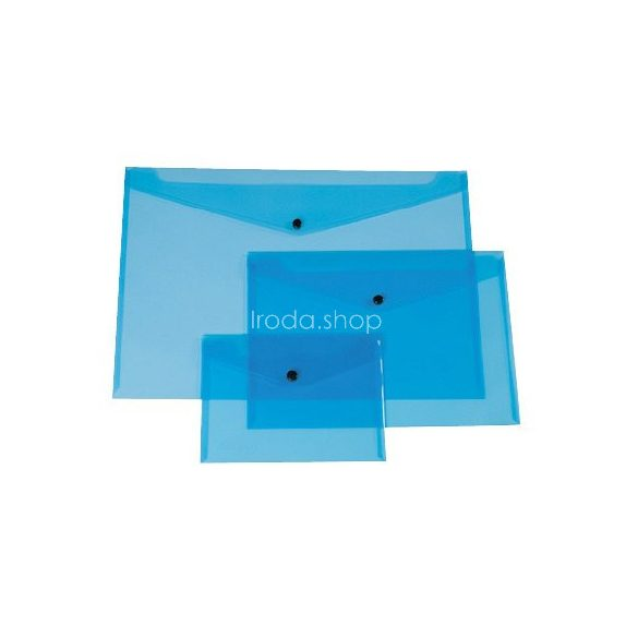 Iratgyűjtő tasak A/5 patentzáras fekvő Q-Connect 225x165mm kék