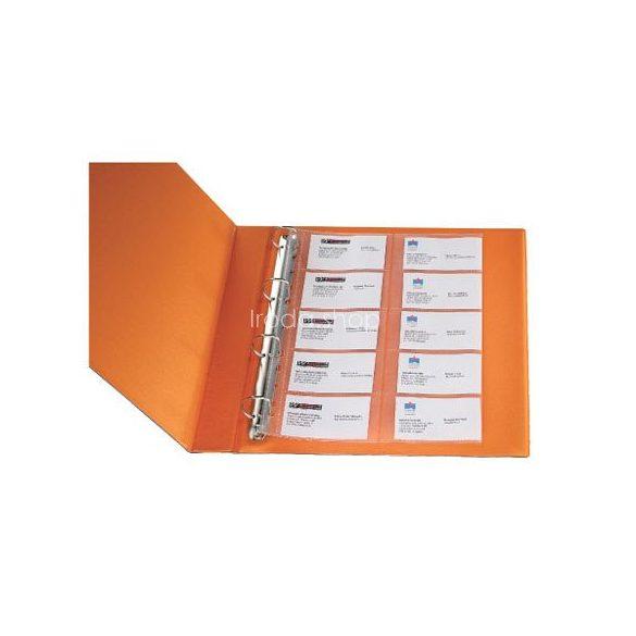 Genotherm A/4 lef. névjegytartó Q-Connect KF00716 20db-os 80 mikron