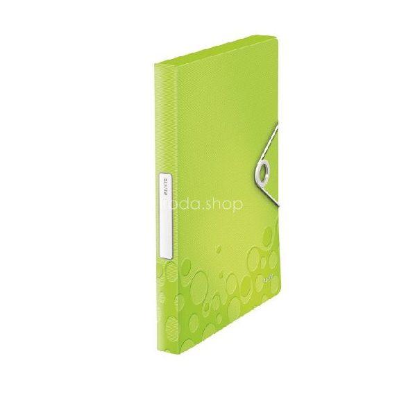 Iratgyűjtő A/4 gumis PP  WOW JUMBO zöld