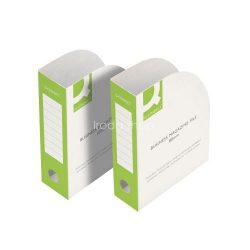 Iratpapucs 80mm karton zöld-fehér Q-Connect KF15845