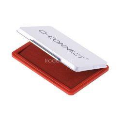 Bélyegzőpárna Q-Connect kicsi, fém, 90x55mm piros