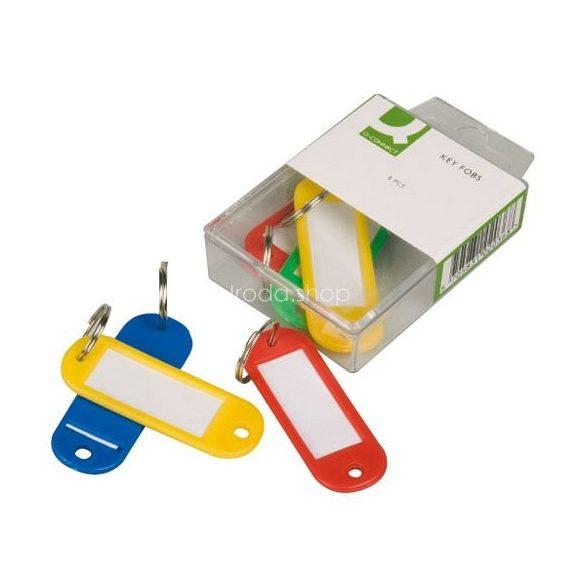 Kulcscímke 6db-os vegyes szín Q-Connect KF02036