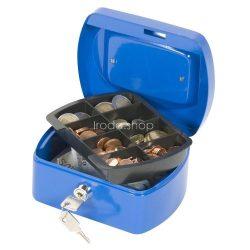 Pénzkazetta 15,5x12x8 cm Q-Connect / Wedo 145.1 kék