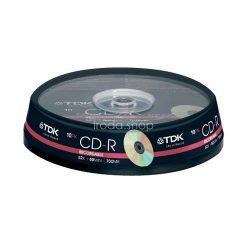 CD-R TDK 700MB 52x 10db cakebox