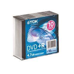 DVD+R TDK 4,7GB 16x 10db slim