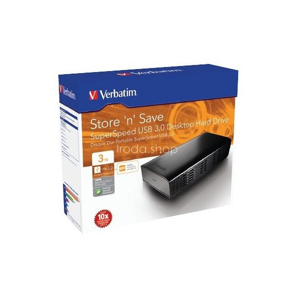 "HDD Verbatim 3,5"" 3TB USB 3.0 47673"