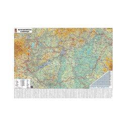 Falitérkép fémléces 140x100cm Magyarország autótérképe