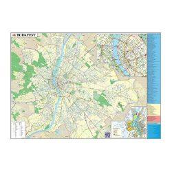 Szúrkatábla 140x100cm Budapest térképe fakeret