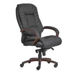 Főnöki szék, műbörborítás, fekete lábkereszt, Buffalo - Fekete