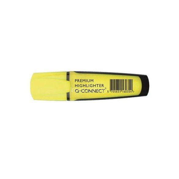 Szövegkiemelő Q-Connect Prémium citromsárga