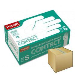 PACLAN latex gumikesztyű 100db-os S