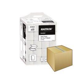 Kéztörlő Katrin Basic Z hajtogatott 200lap 2rétegű 23x22,4cm natúr 20DB-os KARTON ÁR