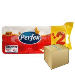 Perfex WC papír 3rétegű 10 tekercs 120 lap 8DB-OS KARTON ÁR