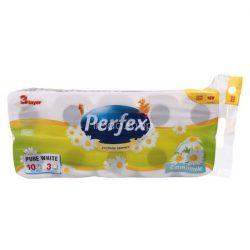 Perfex WC papír 3rétegű 10 tekercs 120 lap Kamilla