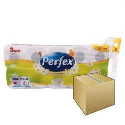 Perfex WC papír 3rétegű 10 tekercs 120 lap Kamilla 8DB-OS KARTON ÁR